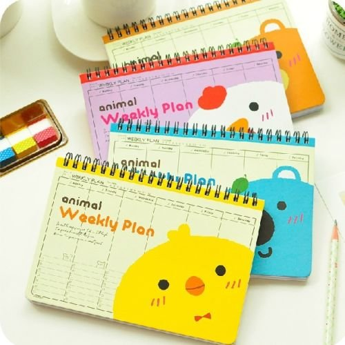 smartchef-we-r-animals-1pc-planner-agenda-scheduler-cute-coil-weekly-journal-notebook