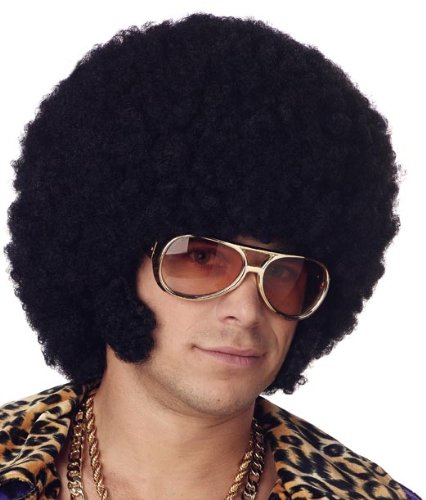 [California Costumes Men's Afro Chops Wig,Black,One Size] (Afro Chops Wig)