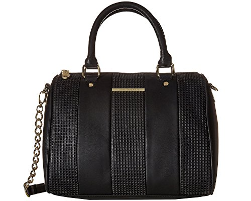 Steve Madden Women's Barrel Perf Stripe Black/Black Handbag