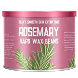 Hair Removal Without Wax - 【Rosemary Essential Oil】Yeelen Essential Oil Hard Wax Beans Hair Removal Wax Beads with 10 Applicator Sticks for Facial Body Brazilian Bikini At Home Waxing, 10.58oz/300g