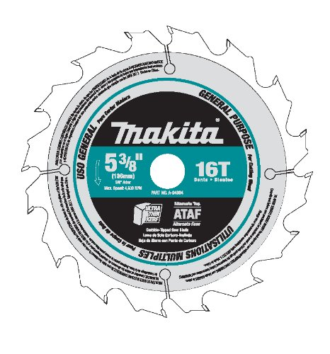 Makita A-94904 Tungsten Carbide Tipped Saw Blade 5-3/8-Inch 16Tooth