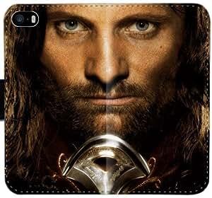 El Señor de los Anillos V8S7S Funda iPhone 5 5S 5SE funda de cuero caja de la carpeta Dm7FJ2 único del teléfono celular del tirón de la funda para las mujeres