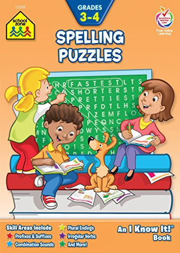 Spelling Puzzles Workbook Grades 3-4