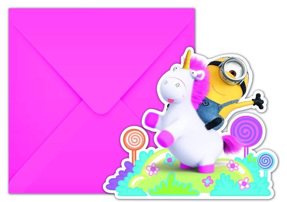 6 Invitaciones * Fluffy * para los niños Cumpleaños ...