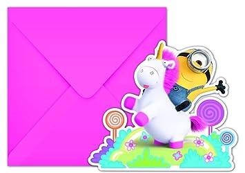 6 Invitaciones Fluffy Para Los Niños Cumpleaños