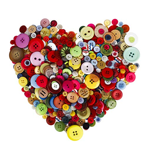 Crafts Buttons Handmade for Kids DIY Decorative Painting 700PCS Assorted Multicolor Round Resin Buttons Bulk for Sewing - Handmade Resin Buttons