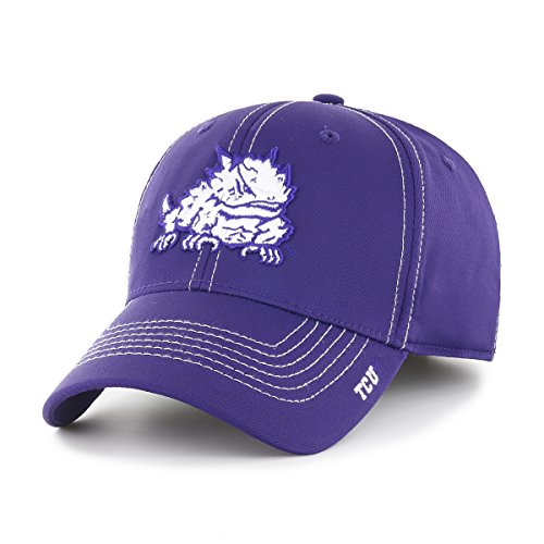 OTS NCAA TCU Horned Frogs Adult Start Line Center Stretch Fit Hat, Large/X-Large, (Tcu Horned Frogs Football)