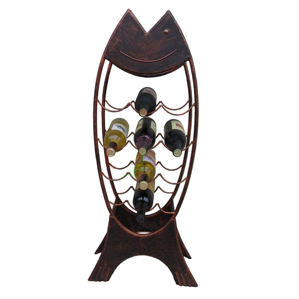Red Wine Shelf Wine Rack, Wrought Iron Glass Holder, Wine Rack, Floor red Wine Storage Rack, Display Stand, 10 Bottles of Standing Wine Rack Size  95  42  20cm