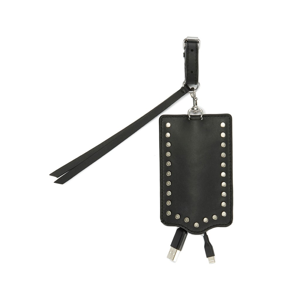 Rebecca Minkoff So Connected Luggage Tag with Cable, Black, One Size by Rebecca Minkoff