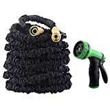 Image of GDEALER Garden Hose Expandable Water Hose 50 Ft with 9 Pattern Garden Hose Nozzle Spray Nozzle Water Hose Nozzle Water Hose Gun for Watering Plants, Car Wash and Showering Pets
