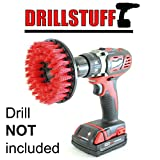 Red Drill Brush,Power Scrubbing Brush Drill Attachment for...