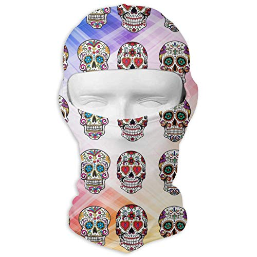Leopoldson Sugar Skull Pattern Balaclava UV Protection Windproof Ski Face Masks for Cycling Outdoor Sports Full Face Mask Breathable ()
