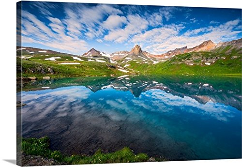 Gallery-Wrapped Canvas entitled Ice Lake at Sunrise, San Juan National Forest by Joseph Roybal 36