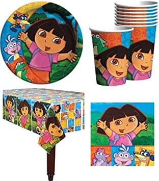 Amazon.com: Dora The Explorer Birthday Party Supplies Pack for 16 ...
