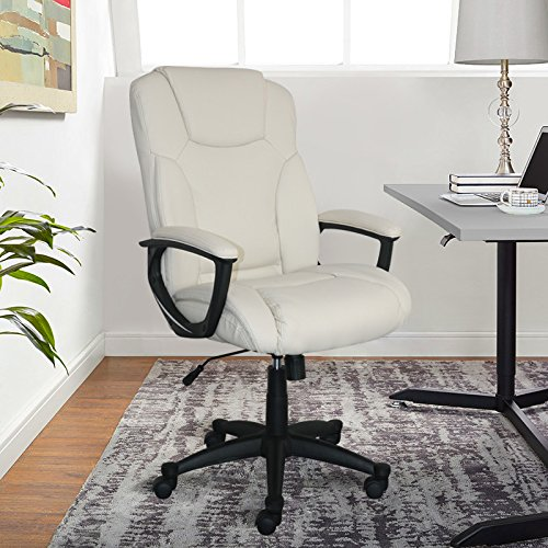 Serta Style Hannah II Office Chair, Bonded Leather, (Executive Fabric Faux Leather)