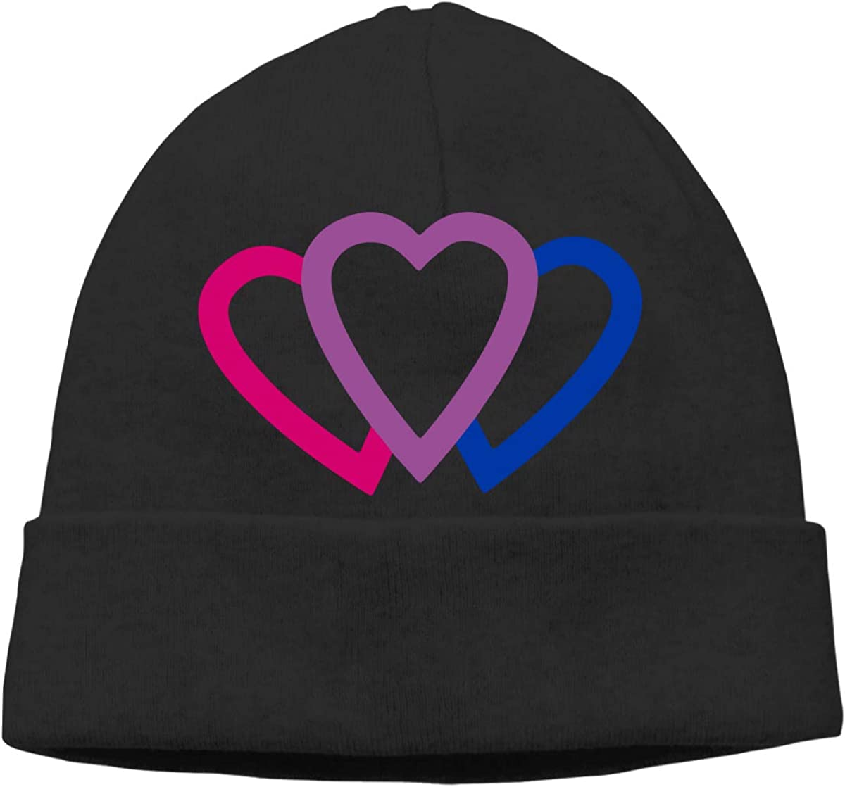 A17BTM Boys and Girls Skullies Beanies Bisexual Pride Retro Toboggan Hat Sports /& Outdoors Knit Hat Black