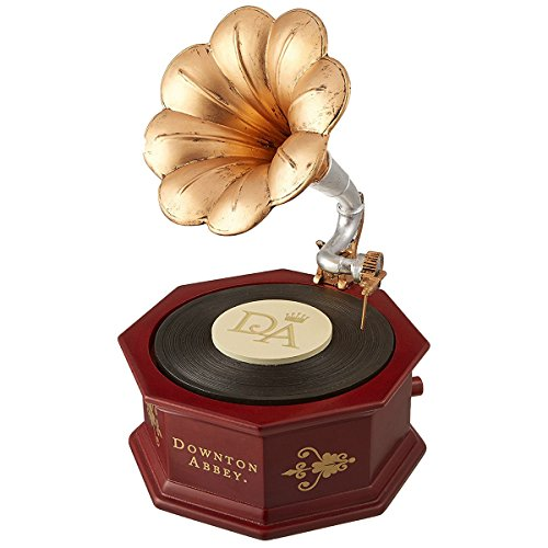 Downton Abbey Animated Musical Music Spinning Record Box Phonograph, 8