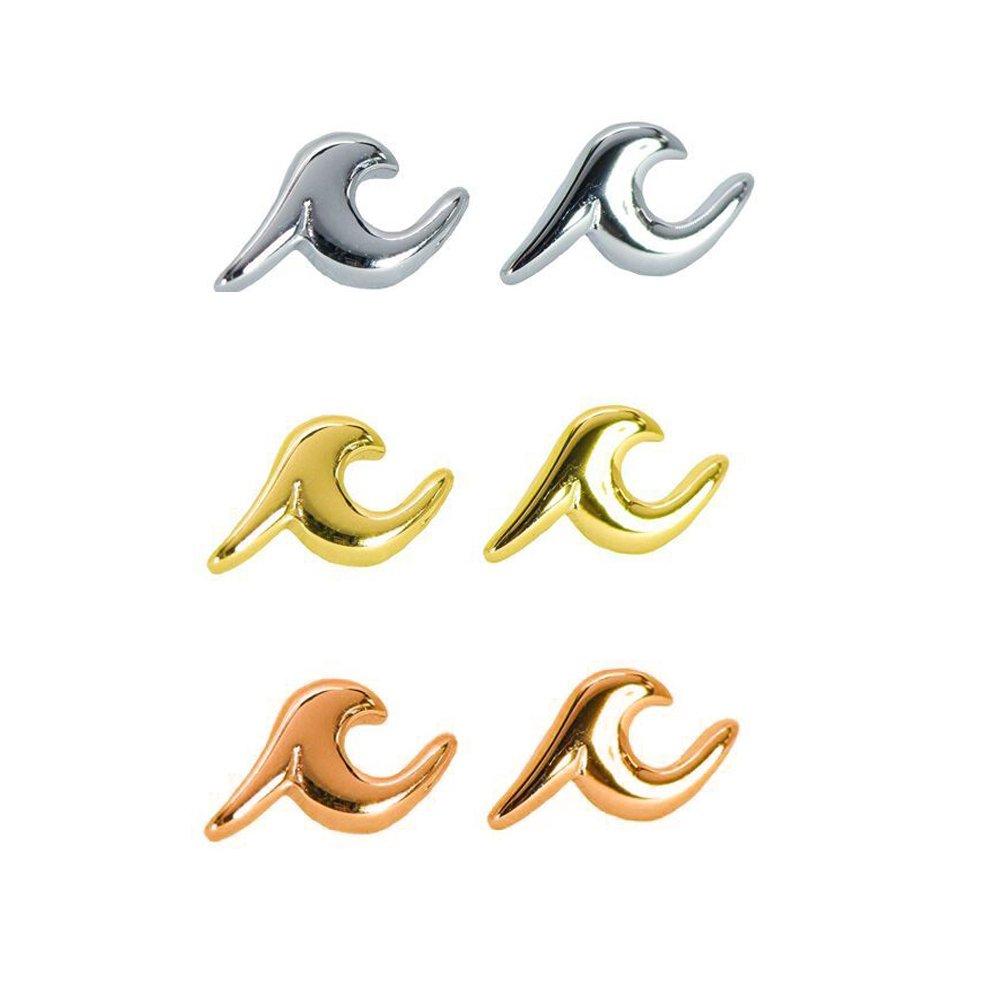 Ear Jacket Earrings Set,Women Girls Stainless Steel Studs Trend Wave Earrings Stud Set