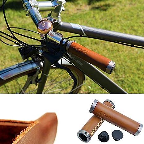 let-going bicicleta Retro Naturaleza Piel (hecho a mano manillar 7 ...
