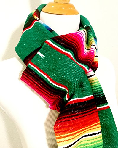Mexican Serape Scarf Scarves Boho Winter Wrap