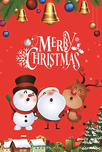 Santa Claus Garden Reindeer Snowman Flag Winter Christmas Holiday Decoration Double Sided 12.5'' X 18''