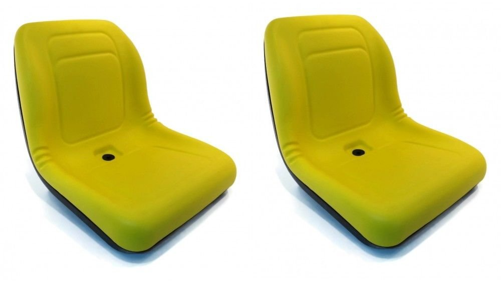 A&I Products (2) Yellow HIGH Back Seats for John Deere Gator XUV 620i, 850D, 550, 550 S4 UTV by The ROP Shop
