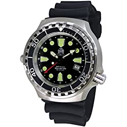 Tauchmeister men`s diver watch Swiss GMT movement sapphire glass T0299