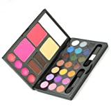 21 Colors Combo Eyeshadow Makeup Kit Cosmetics Palette Set Lip Gloss Powder Cake