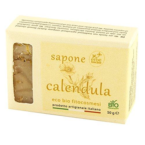 Sapone BIO CALENDULA 50 gr – Puro Concentrato di Natura – Prodotto a mano in Toscana Antichi Rimedi