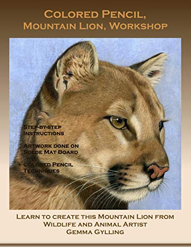Colored Pencil, Mountain Lion, Workshop Book