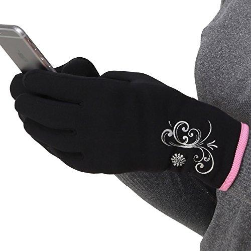 TrailHeads Women's Running Gloves   Touchscreen Gloves   Power Stretch Winter Running Accessories