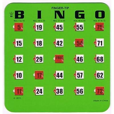 Regal Games Green Fingertip Shutter Slide Bingo Cards: Sports & Outdoors