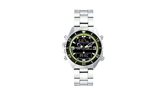 Chris Benz Depthmeter Digital CB-D200-G-MB Cronógrafo para hombres Ordenador de Buceo: Amazon.es: Relojes