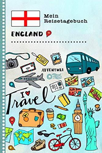 England Mein Reisetagebuch: Kinder Reise Aktivitätsbuch zum Ausfüllen, Eintragen, Malen, Einkleben A5 - Ferien unterwegs Tagebuch zum Selberschreiben ... Journal für Mädchen, Jungen (German Edition)