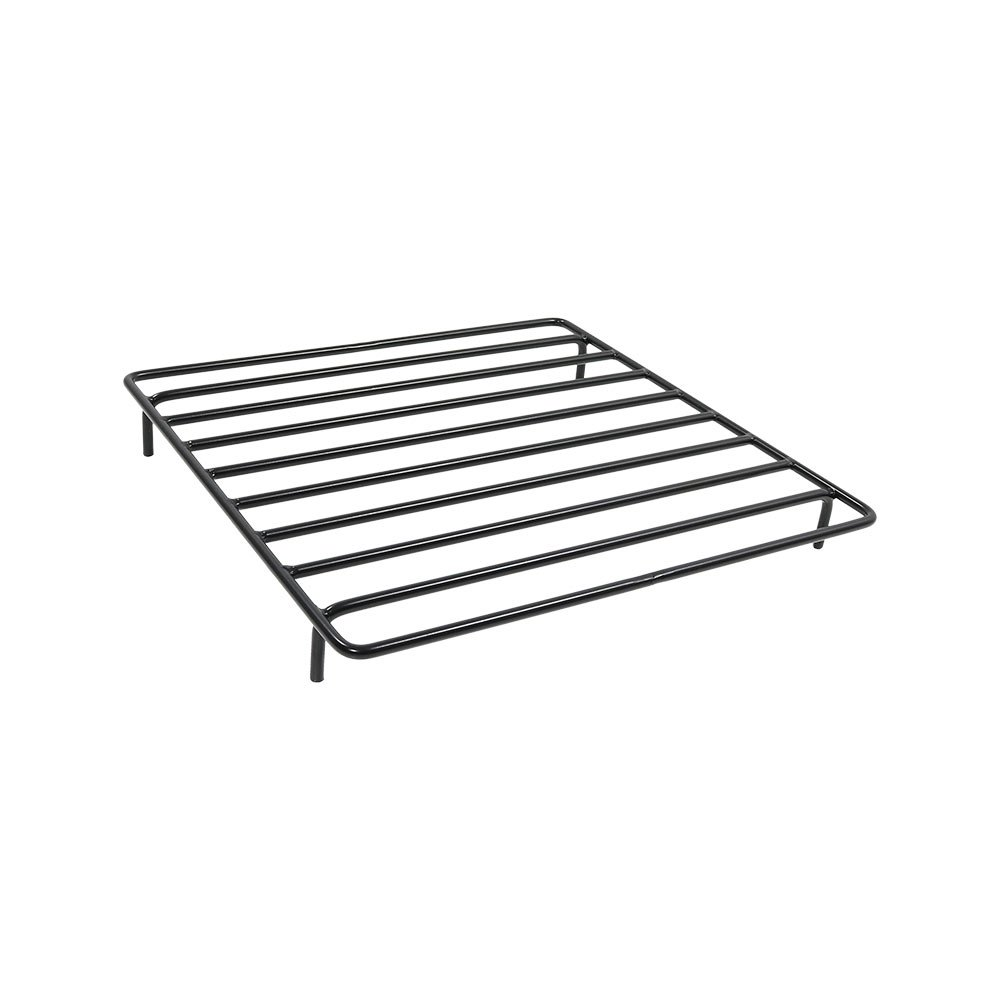 Sunnydaze Square Steel Outdoor Fire Pit Wood Grate, 24 Inches Square x 3 Inches