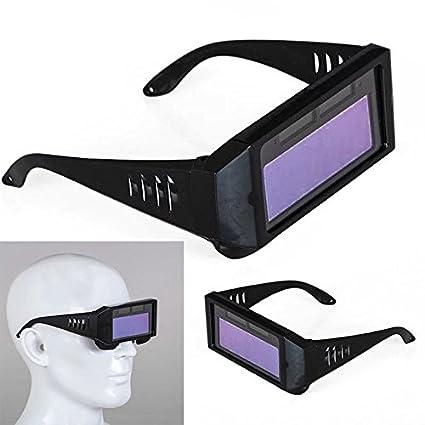 Solar Powered Auto Darkening máscara de soldadura casco ojos gafas de soldar, gafas de soldar