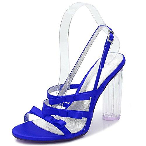 Marfil shoes Blanco high Cristal Blue Elegant de 3 Mujer F2615 Boda Tacones Para Fiesta Zapatos de Plataforma de a45BnPwZ5q