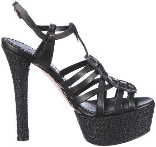 Sebastian WOMAN'S SHOE S5200 VAMANE - Sandalias de tela para mujer Negro