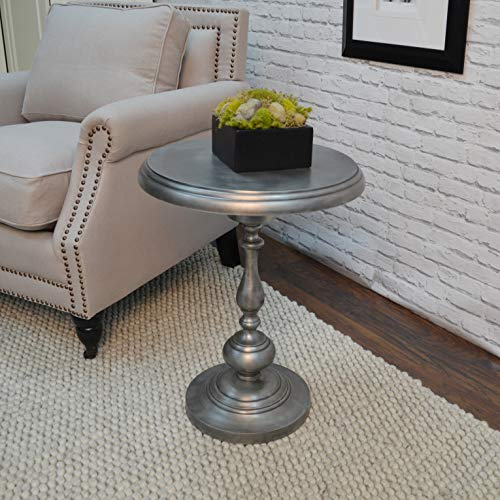 Carolina Chair & Table Antique Nickle Pearson Metal Accent Table