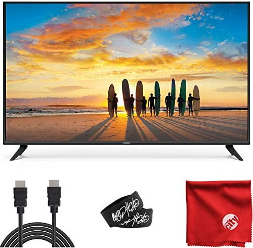VIZIO V-Series 40-Inch 2160p 4K UHD LED Smart TV (V405-H19) with Built-in HDMI, USB, Dolby Vision HDR, Voice Control Bundle with 6-Foot Ultra High Definition 4K HDMI Cable and Accessories