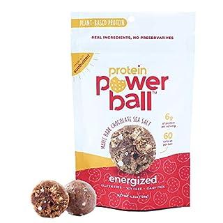 Protein Power Ball Healthy Snacks, Peanut Free, Gluten Free, Dairy Free, Soy Free, Vegan Snack Energy Bites | (Maple Dark Chocolate Sea Salt, 1 Pack)