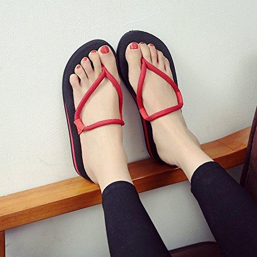 Piatta Flip Alaggio Qingchunhuangtang Appartamenti Pantofole Raffreddare Sandali Pantofole Le nero Sandali E pOgw6q