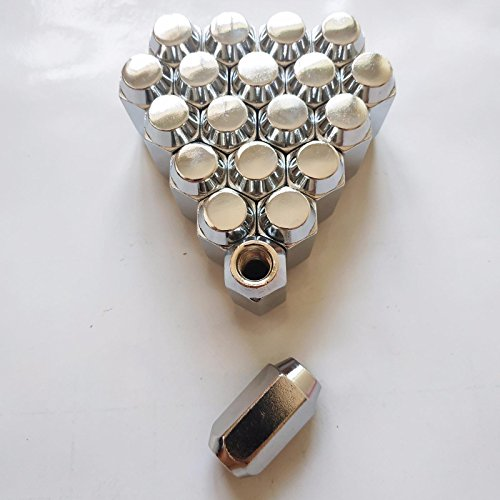 1 Set of 20 Chrome 12mm X 1.25 Wheel Lug Nuts fit 2008 Nissan 350Z May Fit OEM Rims, Buyer needs to review the spec