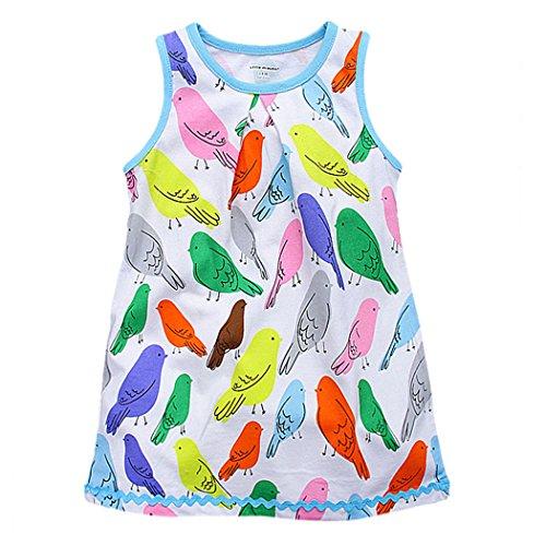 Little Maven Baby Girls Dress Cotton Sleeveless Princess Dress S0132  Multicoloured  5