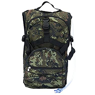 VIVO Hydration Water Pack Bag 2L Bladder Backpack 2.0 for hiking, biking in woodland camo (BAG-HP-01)