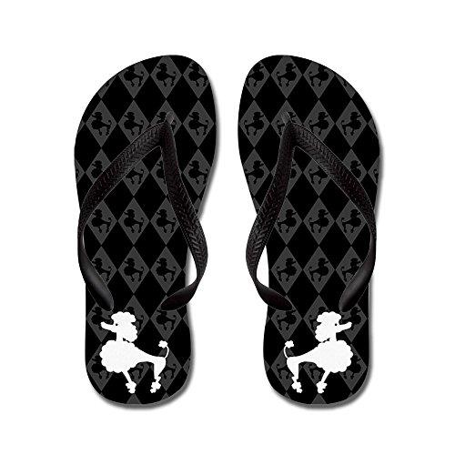 Cafepress Slippers - Flip Flops, Grappige String Sandalen, Strand Sandalen Zwart