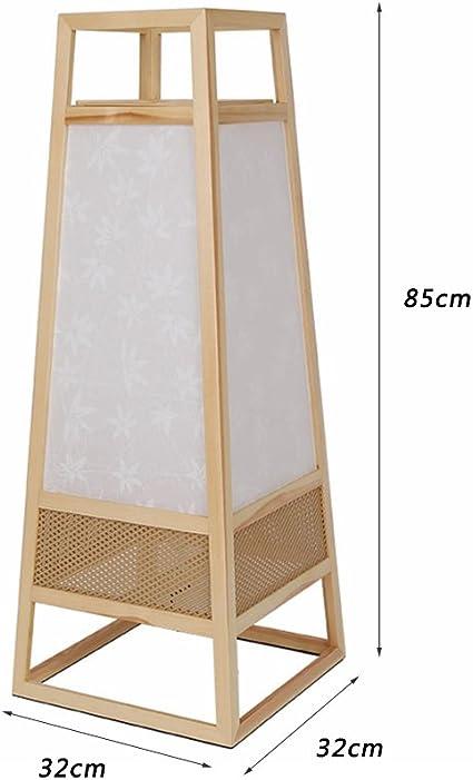 Lámparas de pie Salón Comedor Habitación Simple lámpara de pie alcanfor Pino lámpara de Estudio Dormitorio Tatami Mesilla de Noche de iluminación: Amazon.es: Hogar