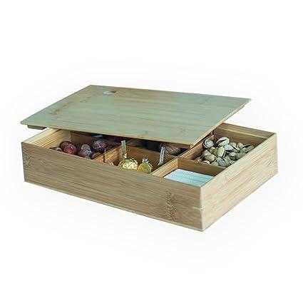 Caja Organizador de cajones de madera jajafook separadores para cocina, baño, oficina, cosméticos