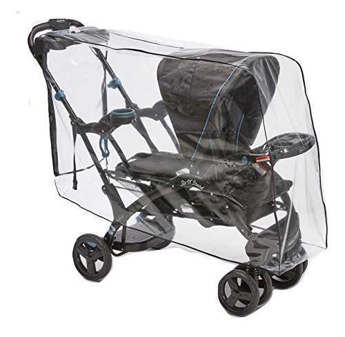 Sasha's Premium Series Rain and Wind Cover for Baby Trend Sit N Stand Ultra Tandem Stroller