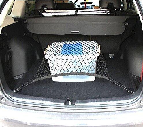 Rete elastica per bagagliaio auto universale in nylon, adatta alla maggior parte dei SUV e berline, per una conservazione eccellente 9 MOON